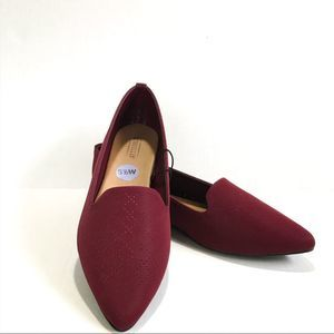 Seychelles Burgundy Slip-on Flats NWT 8.5 Wide